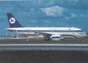 AZERBAIJAN AIRLINES, A319-115X CJ, unused Postcard