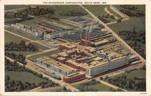 South Bend Indiana Studebaker Corp Aerial View Vintage Postcard JJ649029