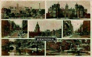 Birmingham Queen Elizabeth Hospital Aston Hall Waterfalls Cathedral Postcard