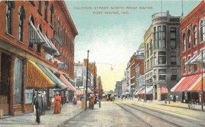 LP55 Fort Wayne  Indiana Postcard Calhoun Street View