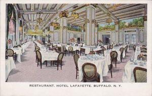 New York Buffalo Restaurant Hotel Lafayette 1932