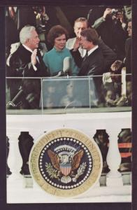 Jimmy Carter Takes Oath of Office Post Card 3406