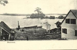 liberia, MONROVIA, Panorama (1899)