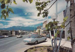 Classic Cars, Street Scene, Port Alberni, Vancouver Island, British Columbia,...