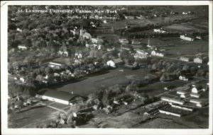 Canton NY St. Lawrence University Aerial View Real Photo Postcard