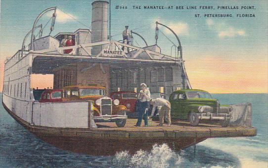 Tha Manatee At Bee Line Ferry Old Cars Pinellas Point St Petersburg Florida