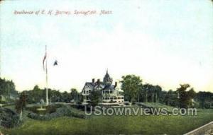 Residence of E. H. Barney Springfield MA 1908