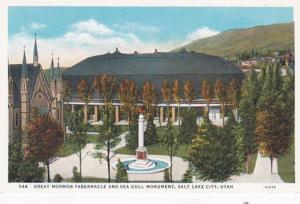 Utah Salt Lake City Great Mormon Tabernacle and Sea Gull Monument Curteich