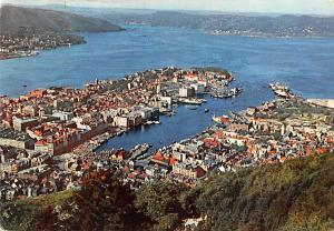 Norway Old Vintage Antique Post Card Aerial View Bergen 195
