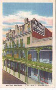Louisiana New Orleans Antoine's Restaurant 1967 Curteich