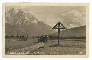 RP, Bei Igls mit Series 2719m u. Habicht 3280m, Horses & Carriage, Valley, 19...