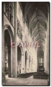 Postcard Old Cathedral Tours Inner View