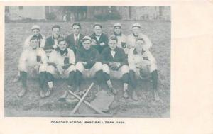 Baseball, Base Ball Team, Real Photo, Postcard Concord School 1908, New Hamp...