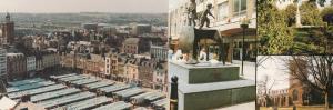 Northampton Market Church Aerial View 2x Postcard s