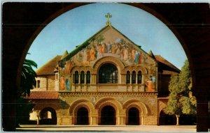 Stanford University Chapel Exterior Santa Clara County California Postcard