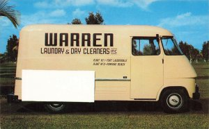 Fort Lauderdale FL Warren Laundry Dry Cleaning Delivery Truck Postcard