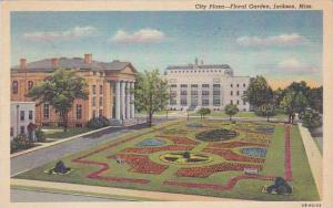 Nebraska Jackson City Plaza Floral Garden 1949