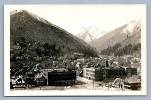 WALLACE ID PANORAMIC VIEW VINTAGE REAL PHOTO POSTCARD RPPC