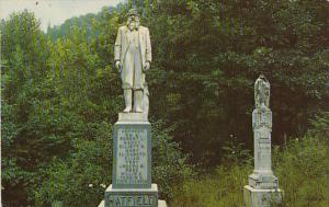 Devil Anse and Johnson Hatfield's Monument Between Logan and Williamson West ...