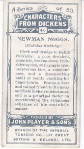 Cigarette Cards Players Characters From Dickens No 46 Newman Noggs