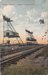 GATUN, Panama, PU-1910; Tramway Towers, Panama Canal