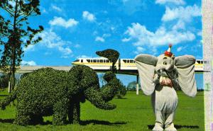Walt Disney World, 0100-10289, Topiary Lane, Old Postcard