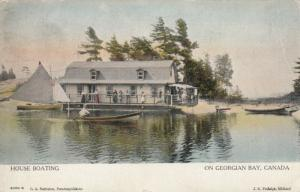 GEORGIAN BAY , Ontario, 1908 ; House Boating