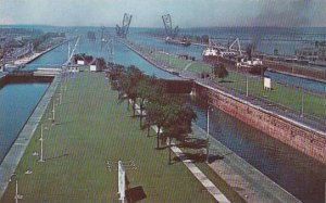 Michigan Marie A General View Of The Soo Locks