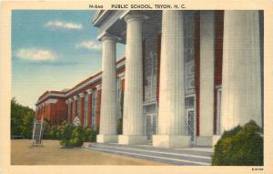 Tryon North Caroilina~Public School~Portable Slide or Fire Escape~1940s Postcard