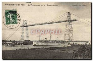 Old Postcard Boat War Rochefort sur Mer The ferry and Duguay Trouin
