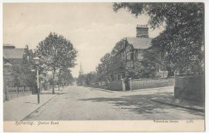 Northamptonshire; Kettering, Station Rd PPC By Valentines, Unposted, c 1910's