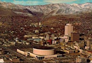 Utah Salt Lake City Aerial View 1978