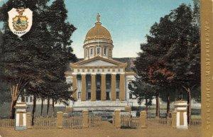 LPV17 Montpelier Vermont VT Postcard State Capitol Building