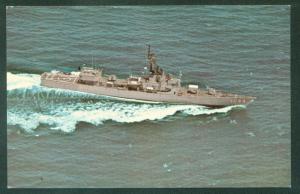 USS BRUMBY FF-1044 Garcia Class Frigate US NAVY Military Ship Postcard