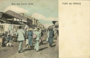 haïti, PORT-AU-PRINCE, Rue des Fronts Forts (1899) Postcard