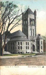 New Britain Connecticut~Trinity Methodist Episcopal Church~Bell Tower 1907