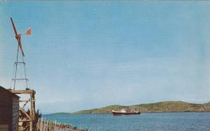 Coastal Steamer at Port Albert,  Notre Dame Bay, serving the Newfoundland Out...