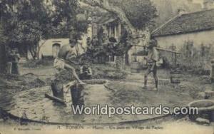 Vietnam, Viet Nam,  Nhân Vật Tonkin Hanoi, Un Puits au village du papier