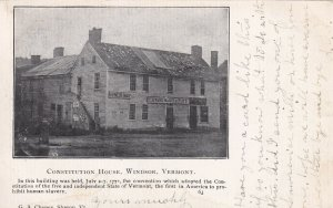 WINDSOR, Vermont, PU-1907; Consitution House