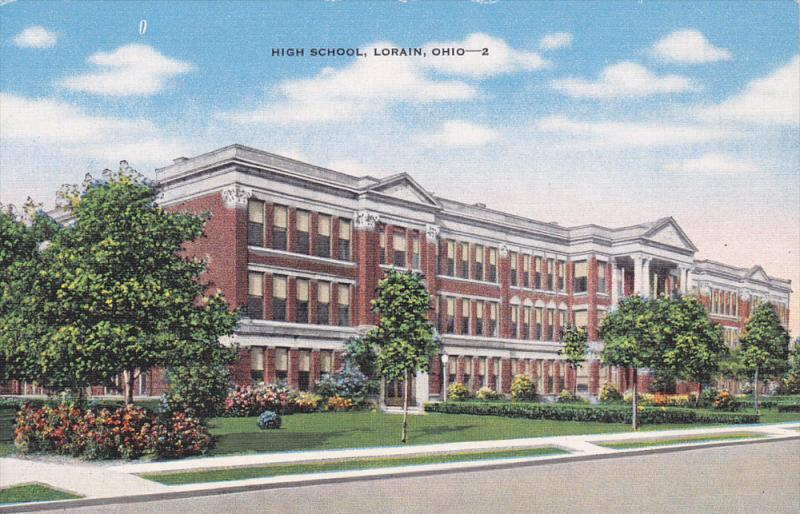 High School, Lorain, Ohio, 30-40s