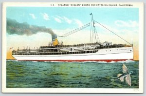 Catalina Island CA~Steamer Avalon~Marvelous Trip~Boat We Came~Flying Fish~1930
