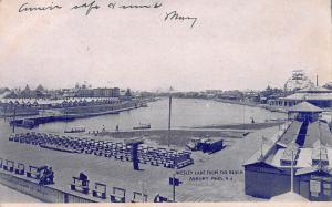 Wesley Lake From the Beach, Asbury Park, New Jersey, Early Postcard