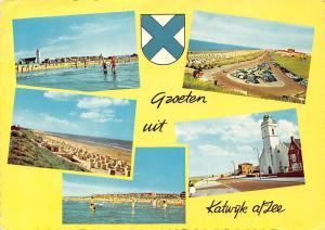 Netherlands Groeten uit Katwijk am Zee Beach Strand Auto Vintage Cars