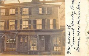 Charlestown MA Samuel Morse Born Here Store Fronts RPPC Postcard