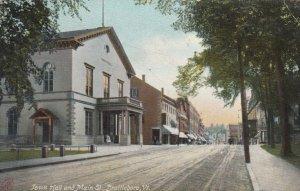 BRATTLEBORO  , Vermont , 1907 ; Town Hall & Main Street