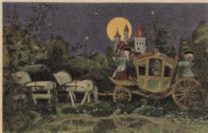 AS: CINDERELLA, PU-1944; Cinderella in horse-drawn carriage on way to Ball