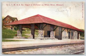 Hollister MO~Stone Construction St Louis Iron Mountain & Southern Rr Depot~c1910