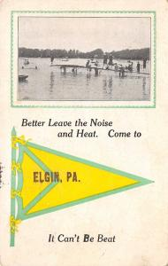 Come to Elgin Pennsylvania~Leave the Noise & Heat~Beach & Boating Pennant PC