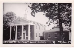 RP: LANCASTER, Virginia, 30-50s; Lancaster County Court House