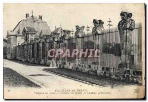 Old Postcard surroundings Melun Chateau of Vaux Vicomte on the Grid and the m...